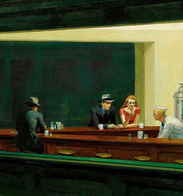 Edward Hopper - I nottambuli (dettaglio)