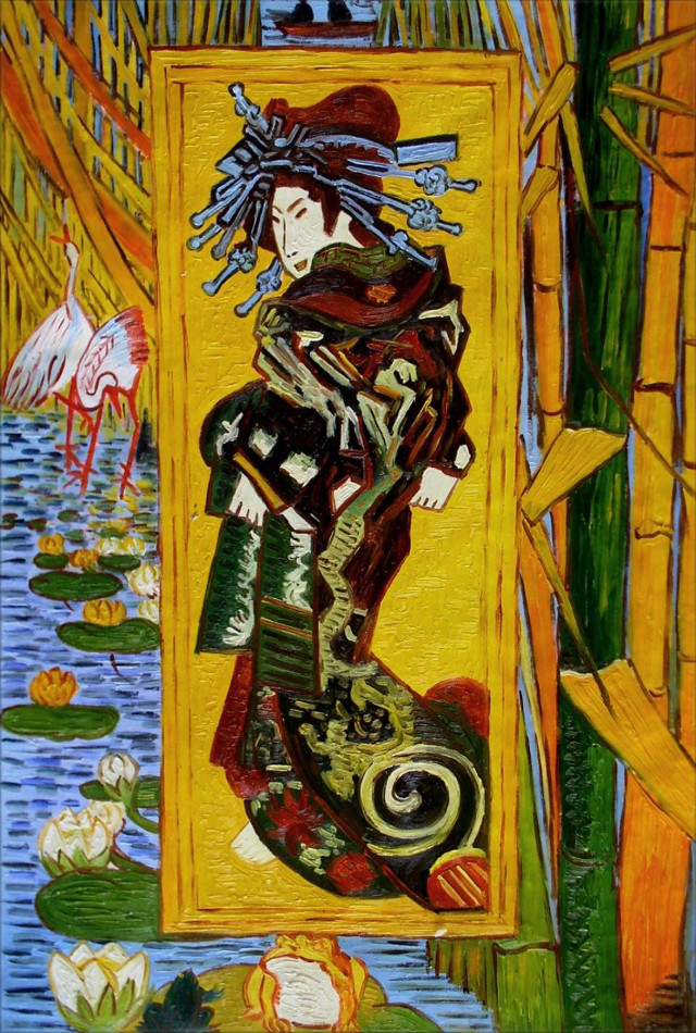 Van Gogh - Oiran (Nach Kesaï Eisen)