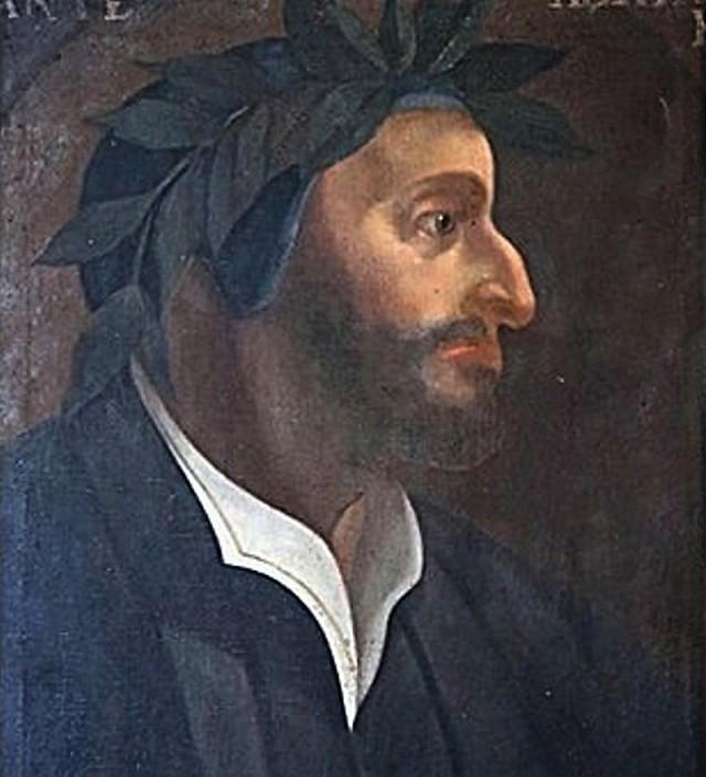 Dante Alighieri, ritratto con barba